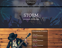 Rhapsody Musician/Band Website Concept