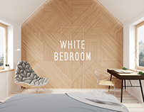 White bedroom 3ds Max | Corona render | Adobe Photoshop