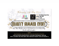 Postcard for Charity event in London