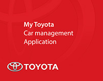 My Toyota Car Management Application concept