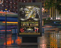 GARAGE CONCEPT LATIN NIGHT POSTER