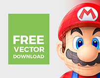 Super Mario Vector | Illustrator Mesh Tool