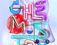 School Subject Typography
