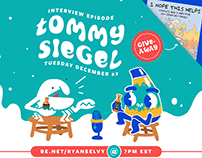TONIGHT: Livestream with Tommy Siegel