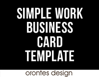 SIMPLE WORK | BUSINESS CARD | TEMPLATE