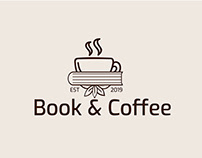 Book & Coffee logo