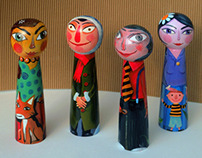 Wooden friends - painted dolls