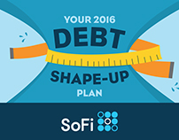 Make your Debt Sweat in the New Year - SoFi Infographic