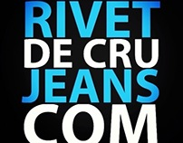 Website design for Rivet De Cru Jeans