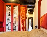 Interior art in Trastevere