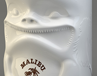 Malibu Tiki Glass