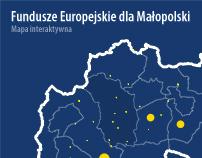 Fundusze Europejskie dla Malopolski - Mapa interaktywna