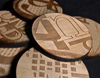 Wood Type Coasters