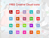Free creative cloud icons