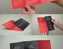Clean Minimal Trifold Brochure