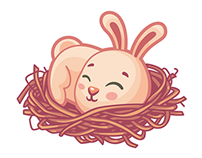 Easter Bunny Sticker Set for ICQ