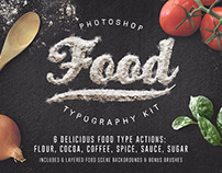 Food Typography Photoshop Actions