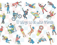"Zine ""10 things to do with friends"""