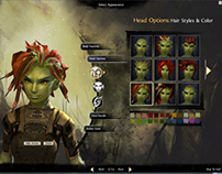 Guild Wars 2 UI: Character Creation