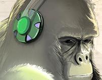 Gorillas - Illustration Series