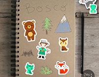 Stickers set designed for children