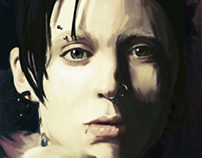 Ilustración Rooney Mara The Girl With The Dragon Tattoo