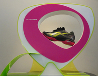 Display for Reebok's Toning Shoe Collection
