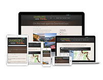 Overland Now Travel Blog Design