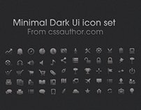 Minimal Dark UI icon set