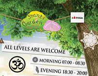 Shanti Garden Kabak Yoga Lesson Poster