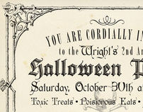 Vintage Halloween Invitation and Poster Design