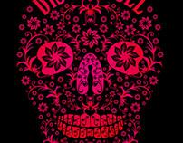 floral tattoo skull vector art