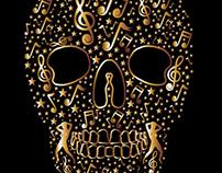 tattoo music skull vector art