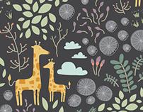 Giraffic Jam Surface Pattern