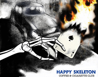 BOOKLET WORK ( HAPPY SKELETON) by ARTE IN SCATOLA