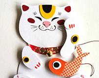 Paper lucky cat