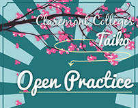 Claremont Colleges Taiko 2015 Audition Flyer