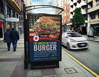 Burger Restaurant Poster Template Vol.5