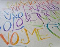 SAGRADO SALADO /  letras dibujadas.-