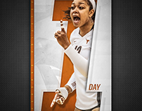 Texas Volleyball - One Day to Match Day