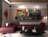 Living room interor viz