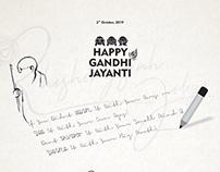Gandhi Jayanti Social media post design