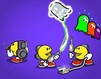 Pac Man & Ghostbusters