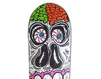 Skate Art @matdisseny • Broken Skull