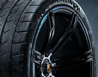 Porsche 988R Rim and Tire 3D Models