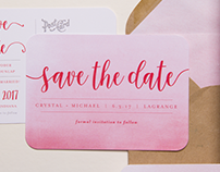 Pink Watercolor Wedding Stationery