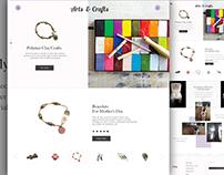 UI Design Challenge - Arts and Crafts Website
