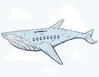 Whaleplane Illustration