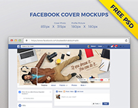 Free Facebook Profile Picture and Cover Mockup