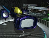 3D Spaceship Animation